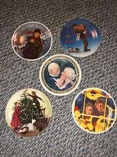 Knowles Christmas Collection Plates-Set of 5