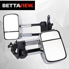 BettaView®Extendable Caravan Towing Mirrors Nissan GU Patrol CHROME 1997-2018
