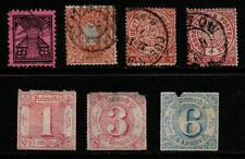 Germany States, Saxony & Thurn & Taxis etc. selection of 7 mint & used.