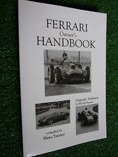 1948-1958 FERRARI 125 166 1500 195 212 275 340 >750 Owners Handbook Users Manual