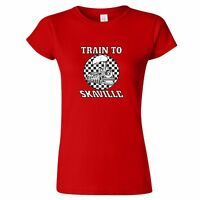 TRAIN TO SKAVILLE DESIGN WOMENS T SHIRT LAST TWO TONE 2 SKA SPECIALS BEAT THE