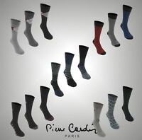 Pack Mens Designer Pierre Cardin Everyday Luxury Welt Fashion Socks