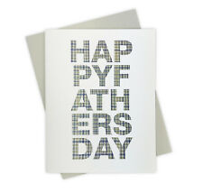 Houndstooth Pattern Handmade Father's Day Card for Dapper Fashionable Dads