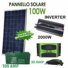 KIT FOTOVOLTAICO 1KW GIORNALIERO INVERTER 2000W PANNELLO ENERGIA SOLARE BATTERIA