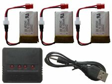 Set 3x Battery 650mAh 3,7V + charger 4in1 Li-po for drone helicopter Syma 852540