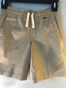 Hurley Boy's One & Only Stretch Chino Shorts Khaki Pull On Elastic Waist all szs
