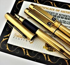 24Ct Gold Plated Parker 25 Fountain Jotter Writing Pen Pencil Set Vintage Gift