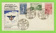 More details for algeria 1957 army welfare fund set on neat illustrated u/a first day cover
