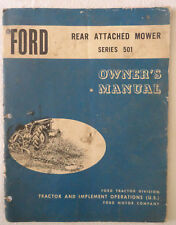 FORD Rear Attached Mower Series 501 Owners Manual