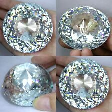 IF 1750+ cts Very Big Round Closed Cut (60 mm) Lab Clear White Diamond AAAA B3