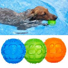 Balle friandise jouet pour chien Ø 7.5 cm Jouet boule en caoutchouc Vert Bleu