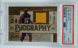 2009 Playoff National Treasures Kobe Bryant JERSEY 29/99 PSA 9 Mint POP 4 Lakers
