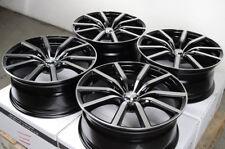 18x8 5x114.3 Black Wheels Lexus Is350 Is250 Gs350 Es330 Civic Accord Flex Rims