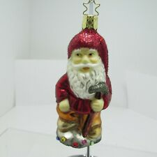 """Inge-Glas Christmas Ornament """"Santa with Hammer"""" Heirloom Collection"""