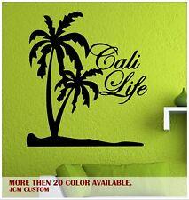 "California Cali Life Palm Trees Beach Removable Wall Vinyl Decal 22"" X 24.5"""