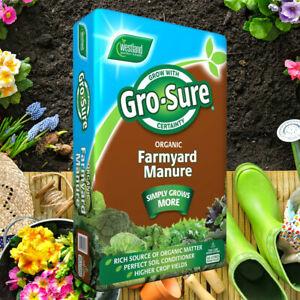 Gro-Sure 50L Farm Yard Horse Manure Multi Purpose Soil Conditioner Fertiliser