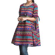 Multi-Colored Tunic Plus Size Dresses for Women
