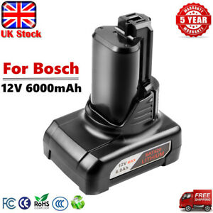 For Bosch Professional Battery 12V 10.8V 6Ah BAT420 BAT411 1600Z0002Y 1607A3506F
