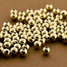 5mm Gold Filled Round Beads, 50 PCS, 14 KT Gold Filled Beads, Seamless Beads