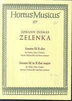 ZELENKA ~ Sonata III B-Dur für Violine, Cello, Oboe und Basso continuo