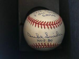 Duke Snider autographed Stat baseball.