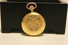 Mat Gold 585 Swiss Pocket Watch Antique Rare Beautiful Small Ladies Solid