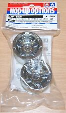 Tamiya 54831 T3-01 Wheels for Rear Wide Semi-Slick Tires (Chrome Plated, 2 Pcs.)