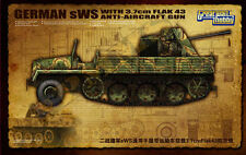 HALF TRACK ALLEMAND sWs CARGO AA FlaK43 3.7cm -Kit GREAT WALL HOBBY 1/35 n° 3521