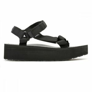 Teva Womens Black Flatform Universal Sandals
