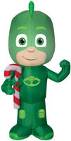 CHRISTMAS PJ MASKS GEKKO CANDY CANE SANTA AIRBLOWN INFLATABLE 3.5 FEET