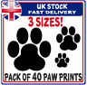 Removable Cute Dog Paw Print Decals Pet Animal Wall Window Floor Stickers