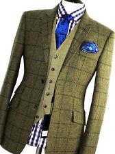 BNWT Homme HOLLAND Esquire ESQ Green Check Tweed Tir Chasse Veste de tailleur 42R