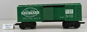(Lot #364) O Gauge Marx Model Train Freight Car Plastic NYC 176893 Boxcar Green