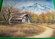 DONNA BELL 1982 REALISTIC LANDSCAPES 1982 OIL PAINT BOOK BARNS  LIGHTHOUSE