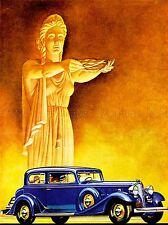 Pubblicità AUTO AUTOMOBILE Deco Statua Laurel Blu Classico Stile USA POSTER LV051