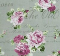 Shabby English Country Cottage Rose Cotton Quilt Gate Fabric RuRu Bouquet