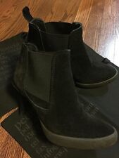 PEDRO GARCIA BLACK Suede Ankle Boots Size 38  w/2 Dust Bags