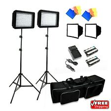 LimoStudio 3x 216 Barndoor Continuous LED Video Lighting Kit Dimmable Panel
