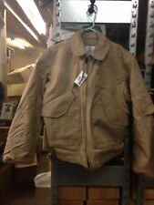 Valley Apparel CWU-45/P Nomex Mil-Spec Winter Flight Jacket M Tan Fire Resistant