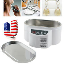 USA Mini Ultrasonic Cleaner Cleaning Jewelry Glasses Circuit Board Watch CD Lens