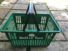 Dollar Tree Shopping Basket Green Carrier Store Two Handle