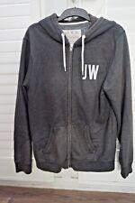 Jack Wills Hoodie Charcoal Grey Zip - Size L