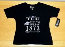 TCU HORNED FROGS 100% Cotton Black Campus Couture T-Shirt Women's XL BRAND NEW