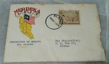 All Races #4 1957 Merdeka Malaya Tunku Abdul Rahman stamp FDC