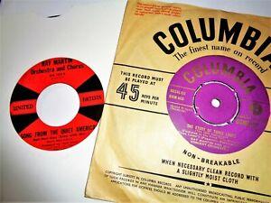 "RAY MARTIN VINYL 45 LOT Film Soundtracks 7"" Records Ex+ Quiet American + 3 Loves"