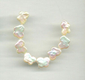 """FRESHWATER PEARL 9-10x12-13MM BUTTERFLY BEADS - 4"""" Strand - 0240"""