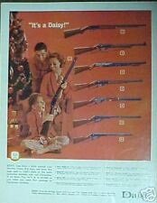 1965 Daisy B-B Gun Boys Kids Oddball Toy Christmas Trade Promo Print Art Ad