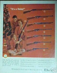 1965 Daisy B-B Gun~Woodstock~Pump~Target~8 Model Types Boys Toy Christmas Ad