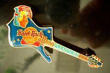 HRC Hard Rock Cafe Cancun Blue Iceman Guitar Mayan Head Massiv Messing XL Fotos