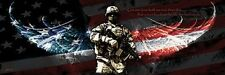 NO GREATER LOVE SOLDIER PRINT Jason Bullard military protect USA flag poster gun